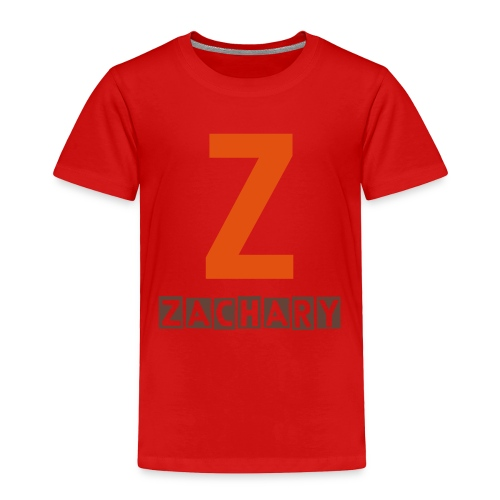 Toddler Z name shirt in orange and chocolate - Toddler Premium T-Shirt