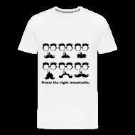 T-Shirts ~ Men's Premium T-Shirt ~ Guess the moustache