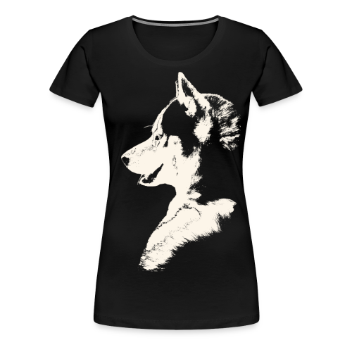 Women's Husky Shirts Plus Size Siberian Husky Sled Dog Shirt - Women's Premium T-Shirt