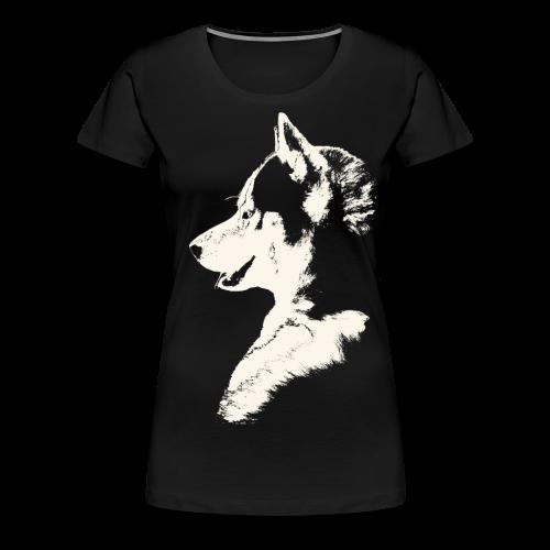 Women's Husky Shirts Plus Size Siberian Husky Sled Dog Shirt - Women's Premium T-Shirt