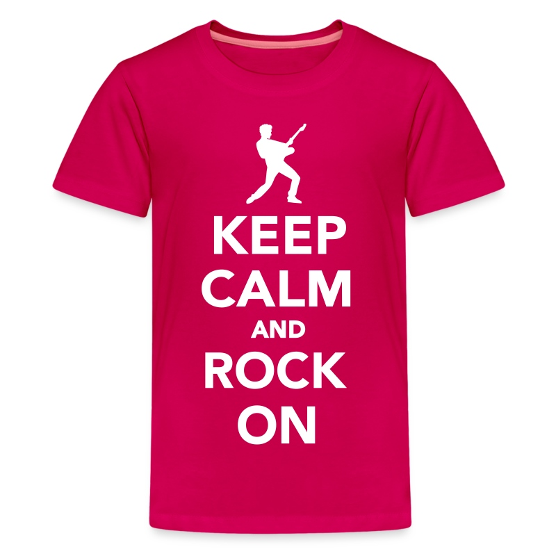 keep calm and rock on t shirt spreadshirt