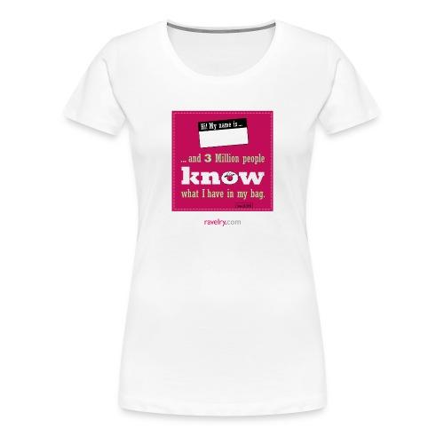 Love (6.559) Ravelry 3 Million FROG phone case - Women's Premium T-Shirt