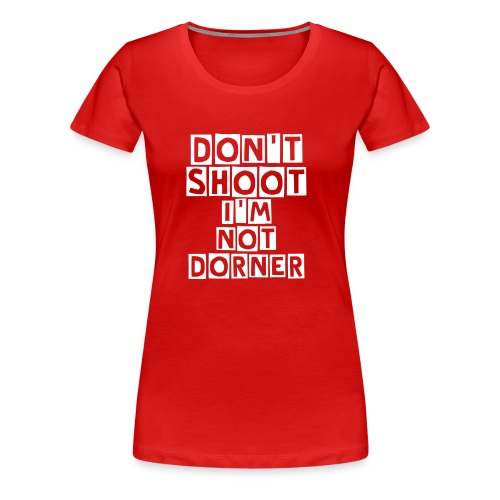 Don't Shoot LAPD Christopher Dorner Womens Fitted Shirt - Women's Premium T-Shirt