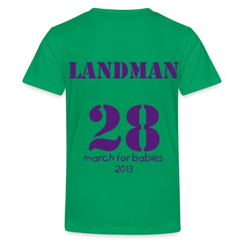 Team Little Landman Kids' T-Shirt Green - Kids' Premium T-Shirt
