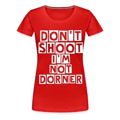 Don't Shoot LAPD Christopher Dorner Womens Plus Size Shirt - Women's Premium T-Shirt