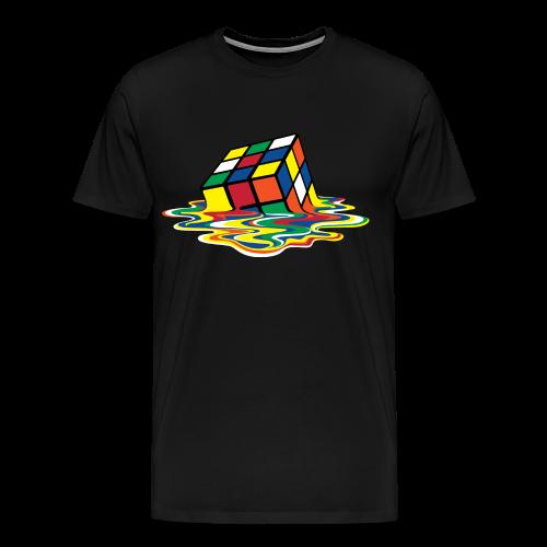 Rubik's Cube Melting Cube - Men's Premium T-Shirt