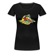 Women's T-Shirts ~ Women's Premium T-Shirt ~ Melting Cube