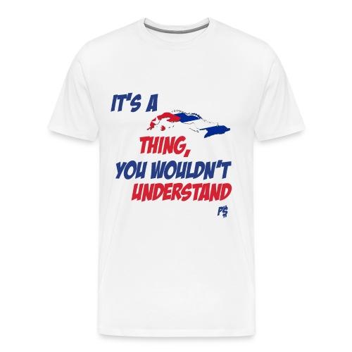 Its Cuban Thing MEN'S GANGERO Y COMELON SIZES - Men's Premium T-Shirt