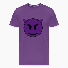 Purple Devil Smiley Face T-Shirts