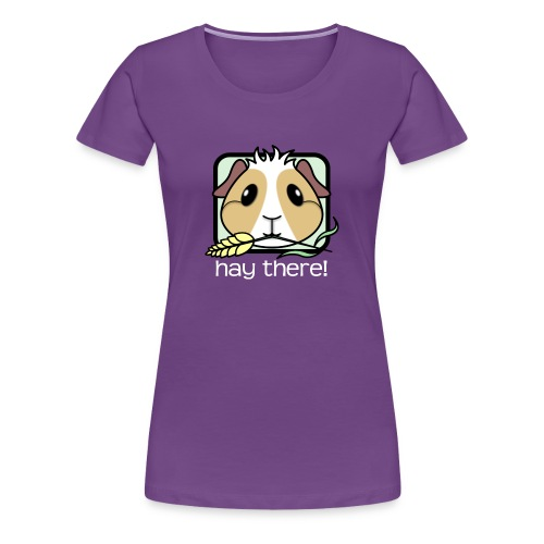 'Hay There' Guinea Pig Women's Plus-Size T-Shirt - Women's Premium T-Shirt