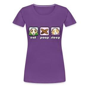 'Eat Poop Sleep' Guinea Pig Women's Plus-Size T-Shirt - Women's Premium T-Shirt
