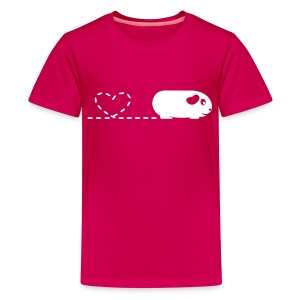 'Pooping Heart' Guinea Pig Children's T-Shirt - Kids' Premium T-Shirt