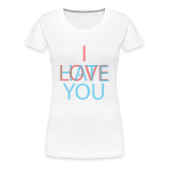 Women's T-Shirts ~ Women's Premium T-Shirt ~ Love/Hate 3d