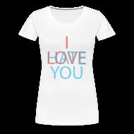 Women's T-Shirts ~ Women's Premium T-Shirt ~ Love/Hate 3d
