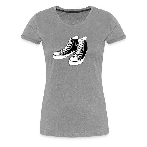 grey Converse - Women's Premium T-Shirt