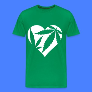 Marijuana Heart T-Shirts - Men's Premium T-Shirt