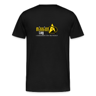T-Shirts ~ Men's Premium T-Shirt ~ Mission Log Black Shirt