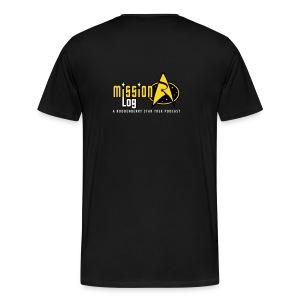 Mission Log Black Shirt - Men's Premium T-Shirt