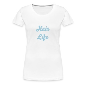 Hair Life-Blue - Women's Premium T-Shirt