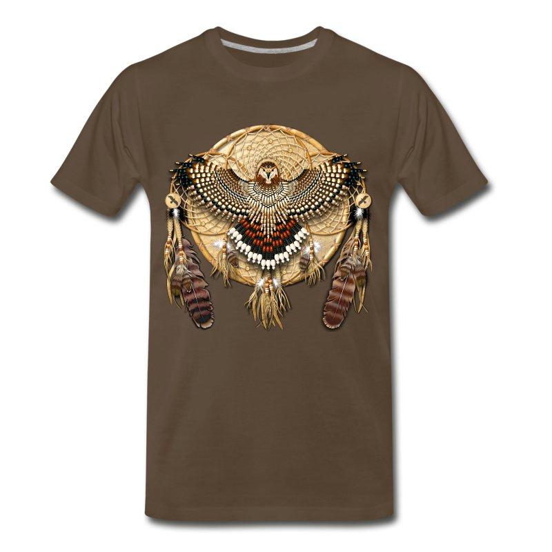 Native american mandala red tailed hawk t shirt for Hawks t shirt jersey