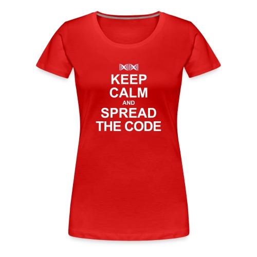 Spread the code  (females) - Women's Premium T-Shirt