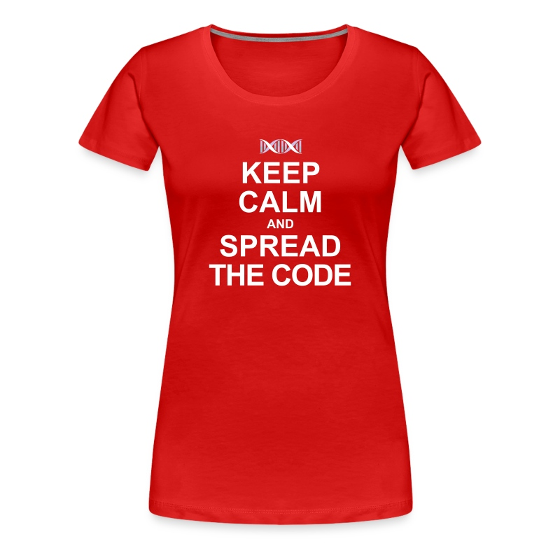 Spread the code  (females) - Women's Premium T-Shirt