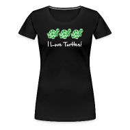 Women's T-Shirts ~ Women's Premium T-Shirt ~ I Love Turtles