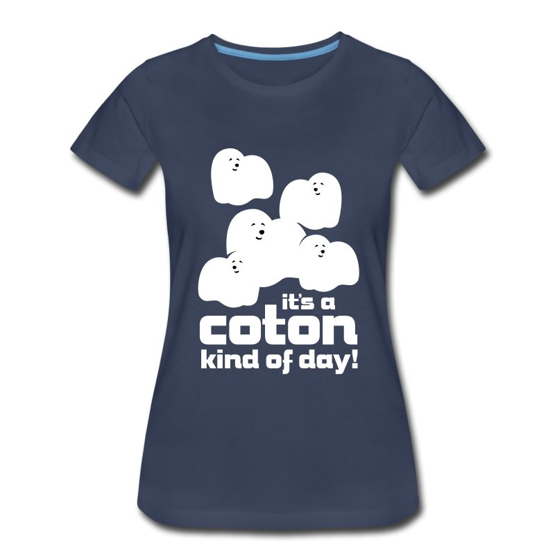 Women's Premium T-Shirt - Cute, fluffy little Coton clouds will brighten everyone's day! Also available in long sleeve.