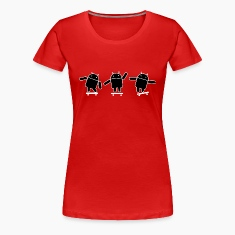 Android Skate B&W Women's T-Shirts