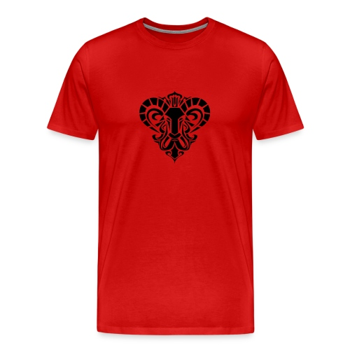 Aries Red2 - Men's Premium T-Shirt