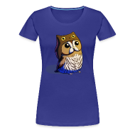 T-Shirts ~ Women's Premium T-Shirt ~ Ladies: Little Owl