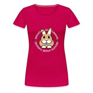 'Bonkers About Bunnies' Ladies Plus-Size T-Shirt - Women's Premium T-Shirt