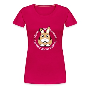 'Bonkers About Bunnies' Ladies Plus-Size T-Shirt - Women's Premium T-Shirt