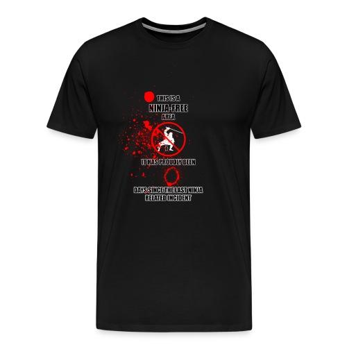Ninja-Free Area - Men's Premium T-Shirt