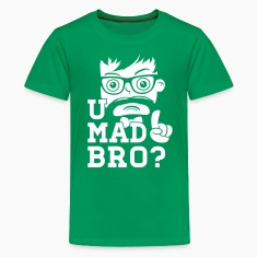 Like a swag cool u mad story bro moustache style Kids' Shirts