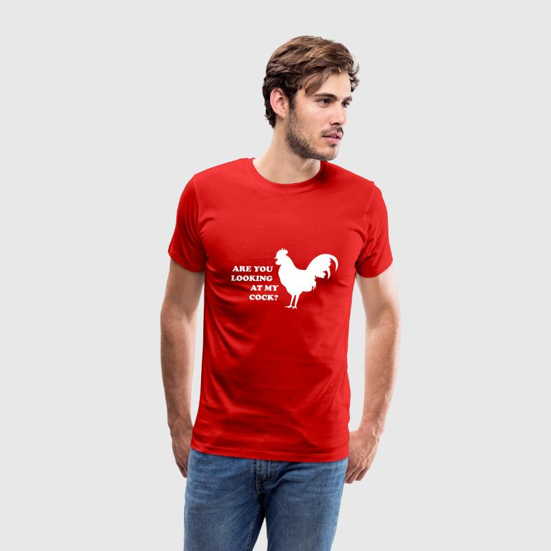 Are you looking at my cock? - Men's Premium T-Shirt