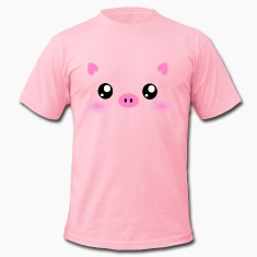 Cute Kawaii Pig face T-Shirts
