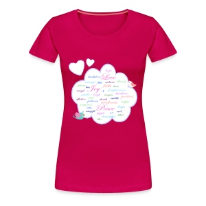 Word Cloud lady's plus size tshirt - Women's Premium T-Shirt