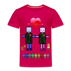 robot love toddler tshirt - Toddler Premium T-Shirt