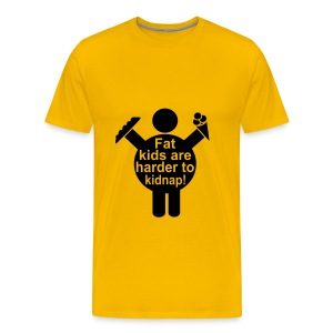 Fat kids are harder to kidnap - Men's Premium T-Shirt
