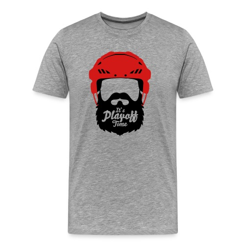 Hockey Hemlet with Beard - Its Playoff Time - Men's Premium T-Shirt