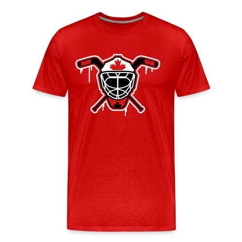 Hockey Goalie Mask Helmet Canada - Men's Premium T-Shirt