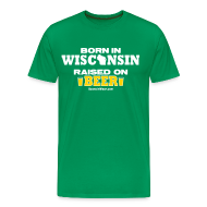 T-Shirts ~ Men's Premium T-Shirt ~ Born in Wisconsin