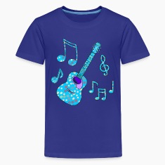 stars and guitar kid's tshirt