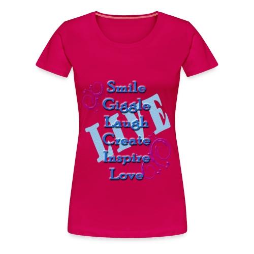 Live tshirt - Women's Premium T-Shirt