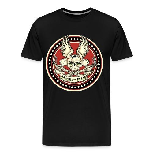 3 & 4 XL Brush With Death - Men's Premium T-Shirt