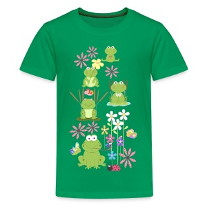 frogs and flowers kid's tshirt - Kids' Premium T-Shirt