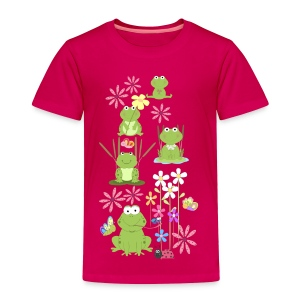 frogs and flowers  - Toddler Premium T-Shirt
