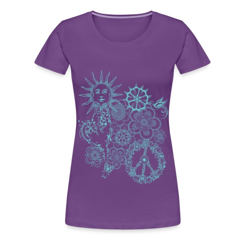 hippie doodle - Women's Premium T-Shirt