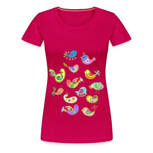 paisley birds - Women's Premium T-Shirt